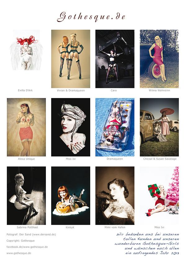 Die Rückseite des 2013er Gothesque Kalenders